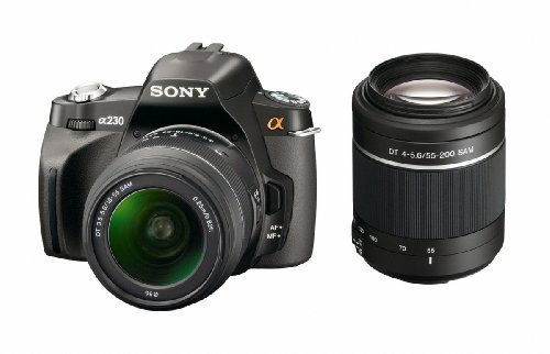 Sony Alpha DSLR-A230 (with 18-55mm and 55-200mm Lenses)