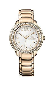 Tommy Hilfiger Callie Women's Quartz Watch with Silver Dial Analogue Display and Rose Gold Stainless Steel Rose Gold Plated Bracelet 1781468