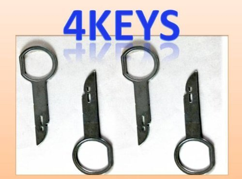 Porsche Volkswagen Mercedes Audi Vw Ford Radio Removal Tool Set 4 Keys (Ford Din Removal compare prices)