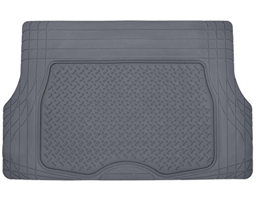 Motor Trend® Heavy Duty Rubber Cargo Mat Trunk Liner for Car SUV Auto (Gray) - Odorless All Weather (Pilot Tray Liner compare prices)
