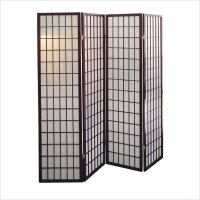 ORE International R566-4, 4-Panel Room Divider - Cherry