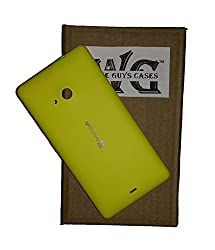 Wise Guys Back Battery Door Panel Replacement for Microsoft Lumia 535 Housing Case - Yellow