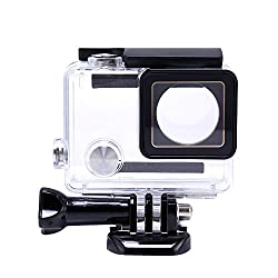 Dazzne Fotowelt Waterproof Skiing Housing Box Protective Case With Bracket for Go Pro Hero4 3+