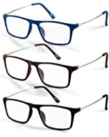 Great Value, Elegant Style, Extra Clear Vision 3-Pack Reading Glasses (Includes Microfiber Cleaning Pouch) +1.00