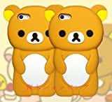 iPhone6sケース 3D立体 クマちゃん リラックマ 可愛い シリコンケース iPhone6ケース カバー アイフォン6sケース KK26