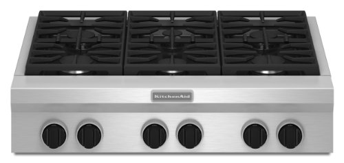 Kitchenaid KGCU467VSS Commercial-Style Gas Cooktop