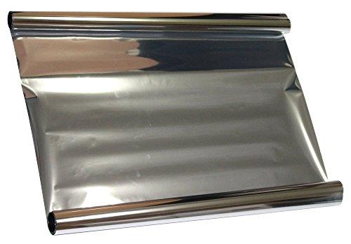 Aerzetix - 5x3=15 mètres 50 cm Film solaire teinté SILVER ARGENT EFFET...