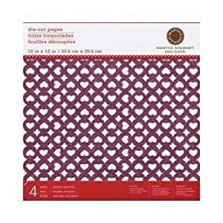 Martha Stewart Crafts - Valentine - 12 x 12 Die Cut Cardstock Pack