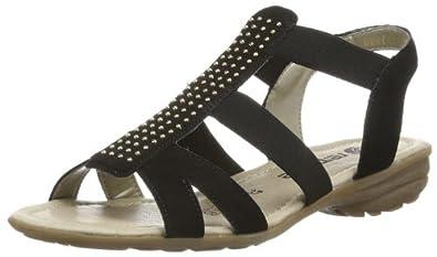 REMONTE R366501 femmes Sandales, noir 38 EU