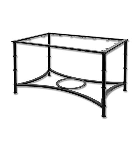 Mesa de camilla elevable de forja - Con aglomerado, 6-Negro, Mesa de forja elevable, Mesa de 110x60x(50-70) cm. de alto