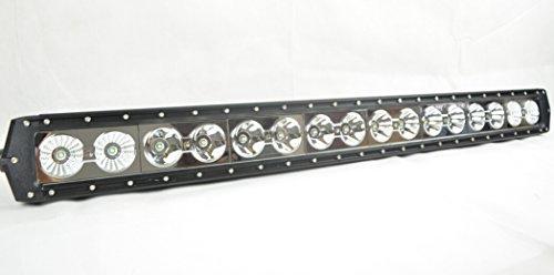 "Mictuning® 37"" 160W Single Row Cree Led Light Bar Combo Flood/ Spot Beam- High Quality 4X4 Off Road Boat Driving Headlights -Jeep Polaris Razor Atv Suv Utv Car Truck"