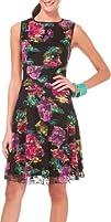 Tiana B Womens Waterlily Printed Lace Dress