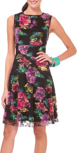 Tiana B Womens Waterlily Printed Lace Dress