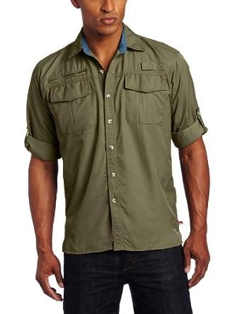 Dakota Grizzly Men's Kenyon Quick-Dry Shirt, Iguana, Medium