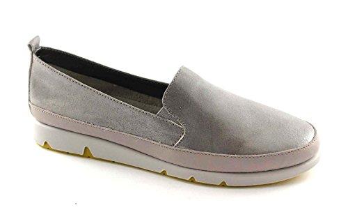 GRUNLAND MILI SC1375 perla grigio scarpe donna mocassini slip on 38