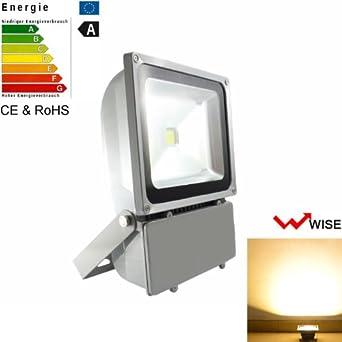 2X100W LED Fluter Flutlicht Außen Garten Sicherheitslicht Strahler Warmweiβ IP67
