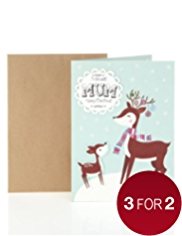 Mum Reindeer Christmas Card