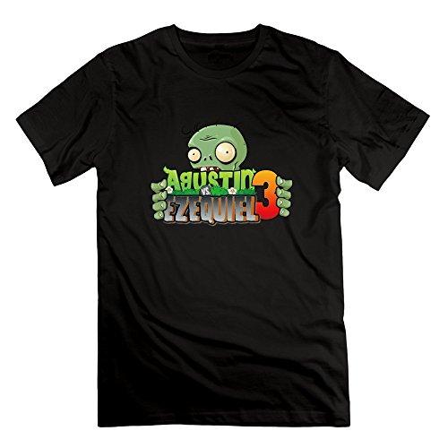 [SUSS Men's Plants Vs Zombies 2 T-shirts XL Black] (Calvin And Hobbes Couple Costume)