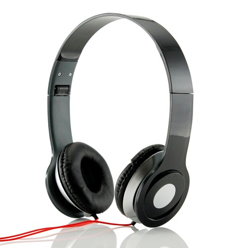 Gearonic Adjustable Circumaural Over-Ear Stereo Headphone For Pc, Mp3, Mp4, Ipod, Iphone, Ipod And Tablet - Non-Retail Packaging - Black