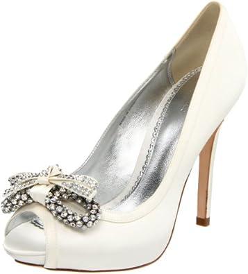 Bourne Kathryn Wedding Shoes UK3 EU36 US5 Ivory Amazoncouk Shoes Amp Bags