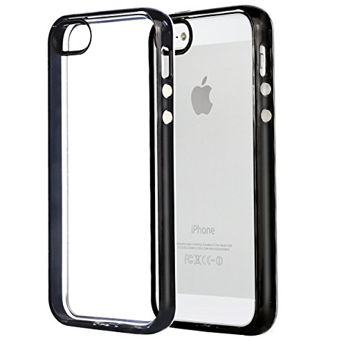 iPhone 5s Case,iPhone SE Case,iPhone 5 Case,by Ailun,Injected&Sealed Bumper,Ultra Clear Transparency,Shock-Absorption,Anti-Scratch&Fingerprints Back Cover,Siania Retail Package[Black] (Packages Of Iphone 5s Cases compare prices)