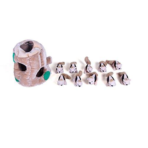 outward-hound-kyjen-2657-hide-a-squirrel-limited-edition-plush-dog-toys-11-piece-squeak-toy-extra-la