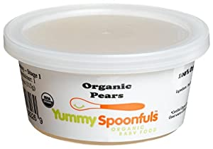 Yummy Spoonfuls Creamy Yummy Pureed Organic Pears, 4-Ounce Tubs (Pack of 12)