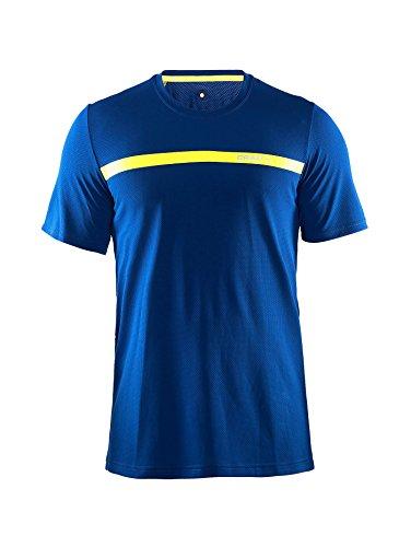 Craft Pantaloni Joy a maniche corte, Uomo, Laufhose Joy Short Sleeve Shirt, Deep, M