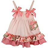 Stephan Baby Ruffled Swing Top And Diaper Cover, Pink Camo, 6-12 Months