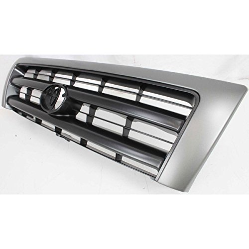 Diften 102-A6217-X01 - New Grille Assembly Grill Silver shell black insert Tacoma TO1200212 5310004090