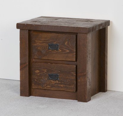 Viking Log Furniture Barnwood 2 Drawer Nightstand