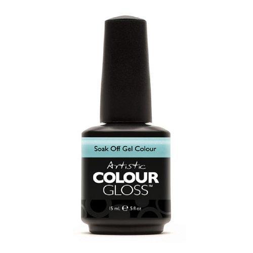 Artistic Nail Design Soak Off Colour Gloss Soft Baby Blue Gel Polish 3052 Tease