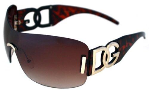 Dg Eyewear Oversized Rimless Sunglasses (Tortoise Shell Brown)