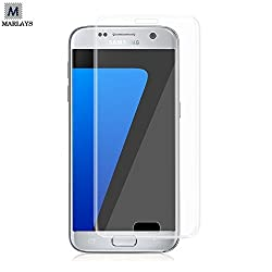 S7 Edge Tempered Glass - MARLAYS Samsung Galaxy S7 Edge 3D Full Screen Coverage 0.2mm Thickness Transparent Tempered Glass Screen Protector specially designed for Samsung Galaxy S7 Edge / S7 Edge