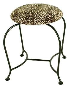 Amazon Com Upholstered Vanity Swivel Stool With Back