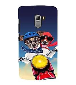 EPICCASE Dog Love in Air Mobile Back Case Cover For Lenovo Vibe K4 Note (Designer Case)