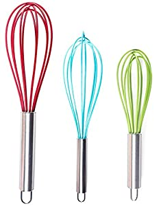 Silicone Spoon Spatula - 10 x 2 Inch, Set of 4