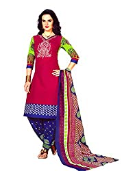 New Summer Collection Women's Cotton Unstitched Dress material (FE0007_Multi-coloured)