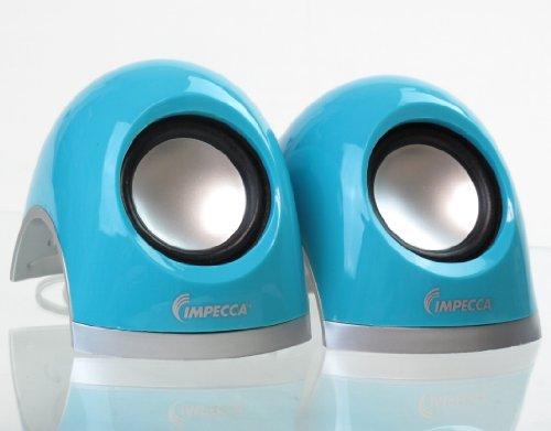Impecca Usb Powered Stereo Multimedia Speakers, Black (Ms320K)