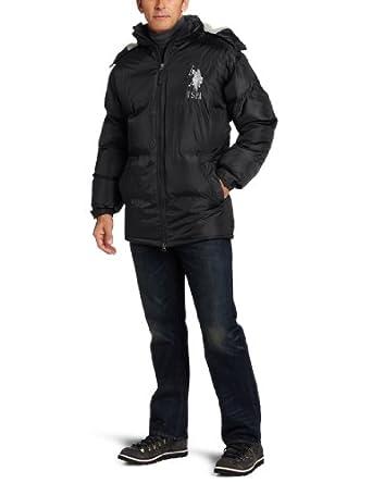 U.S. Polo Assn. Men's Signature Bubble Jacket, Black, X-Large