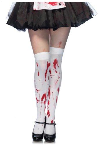 Leg-Avenue-Womens-Bloody-Zombie-Thigh-High-Hosiery
