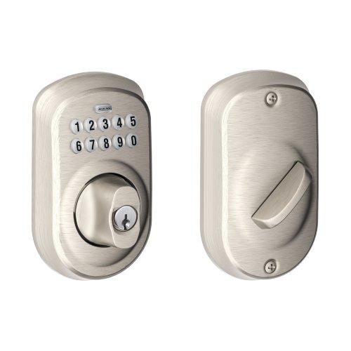 Schlage Be365 V Ply 619 Plymouth Keypad Deadbolt, Satin Nickel