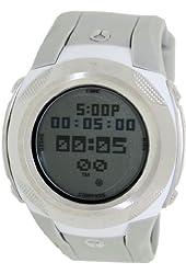 Nixon Delta II PU Watch - Men's Gray / White, One Size