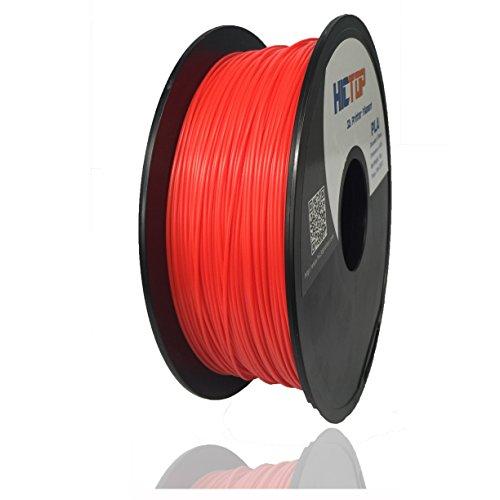 HICTOP 1,75 millimetri PLA stampante 3D filamento - 1kg bobina (2,2 lbs) - precisione dimensionale +/- 0,05 millimetri (Red)
