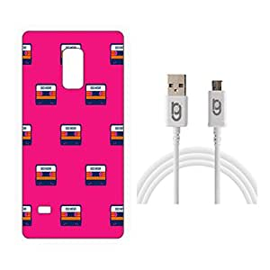 Designer Hard Back Case for Samsung Galaxy Note 4 with 1.5m Micro USB Cable