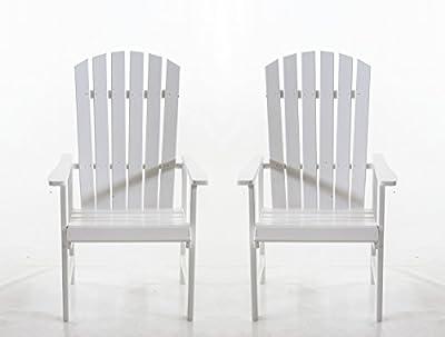 Ambientehome Gartensessel Stranda, Gartenstuhl, Sessel, 2-er Set, weiß von Ambientehome - Gartenmöbel von Du und Dein Garten