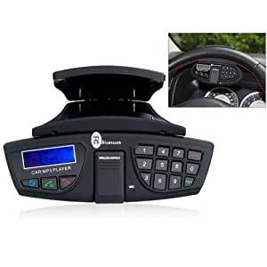 lcd steering wheel bluetooth car kit dsp hands free cell phones accessories. Black Bedroom Furniture Sets. Home Design Ideas