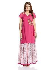 Imara Women's A-Line Salwar Suit Set - B00T80UIBY