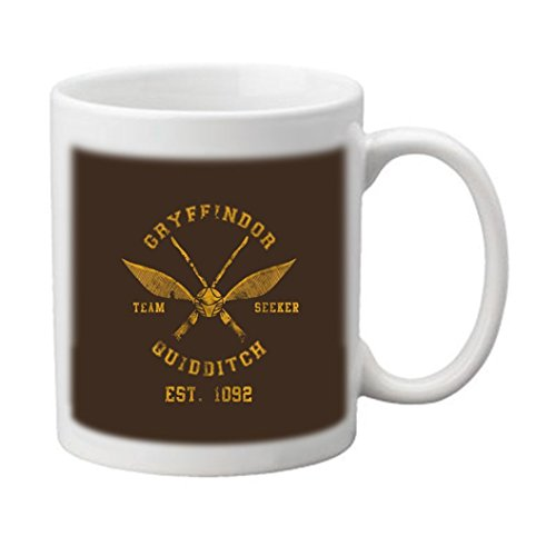 Shawwood Design -Harry Potter Quidditch Custom Image White Ceramic 11 Oz Coffee Mug