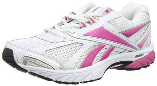 Reebok Pheehan Run - Scarpe Running Donna, Bianco (Black/Berry/White/Silver), 36 EU